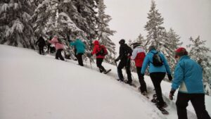 snowshoing is a great non skiing activity in big sky
