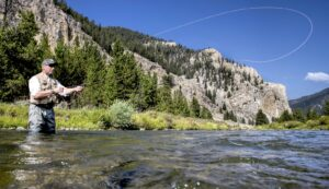 fly fishing the gallatin river for big trout