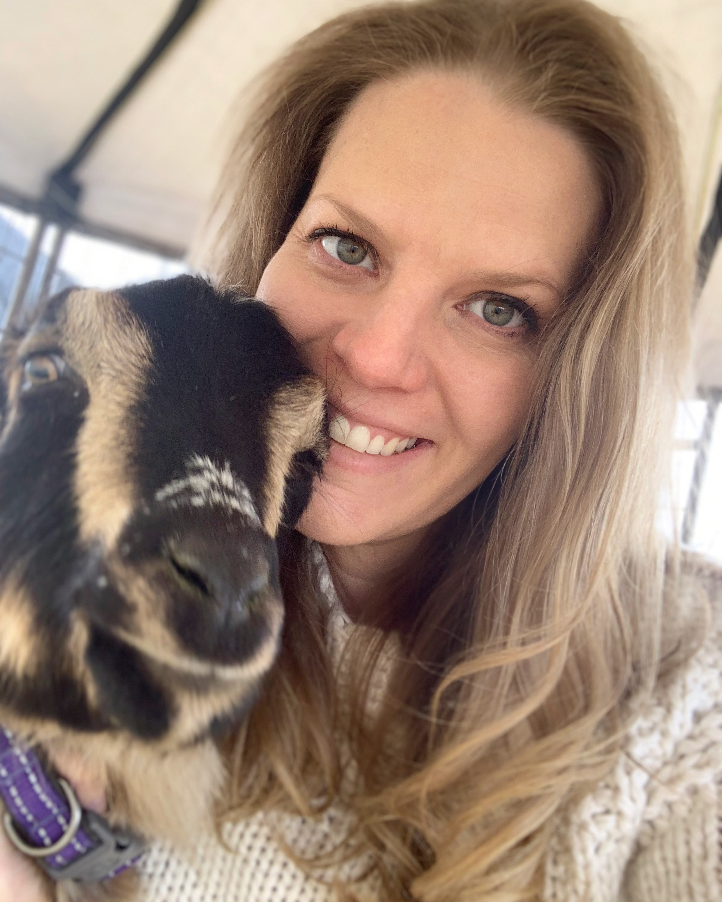 Kelly and her goat