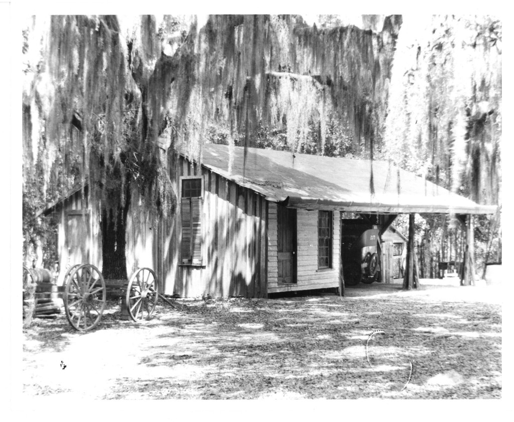 The old garage, which was replaced by the new garage and Guest House.