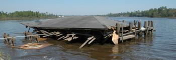 Hurricane Ivan Damages Wharf and Pavilion