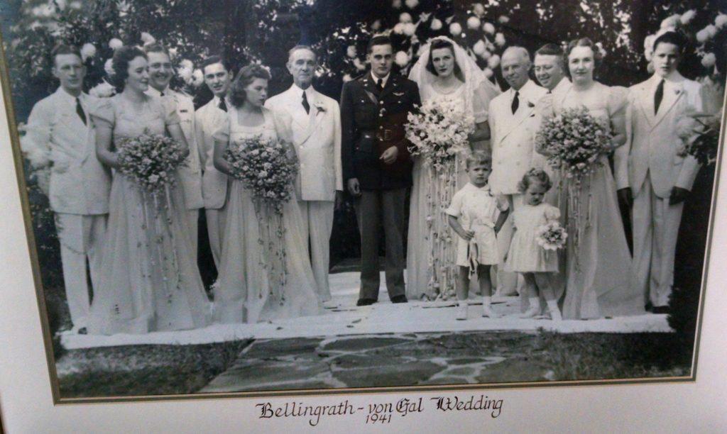 Walter Bellingrath is shown with his niece, Suzanne Bellingrath von Gal, and her new husband, George Edward von Gal Jr., on their wedding day, Sept. 26, 1941.