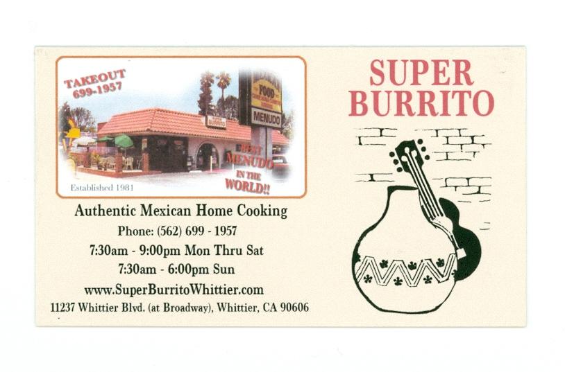 Super Burrito Card