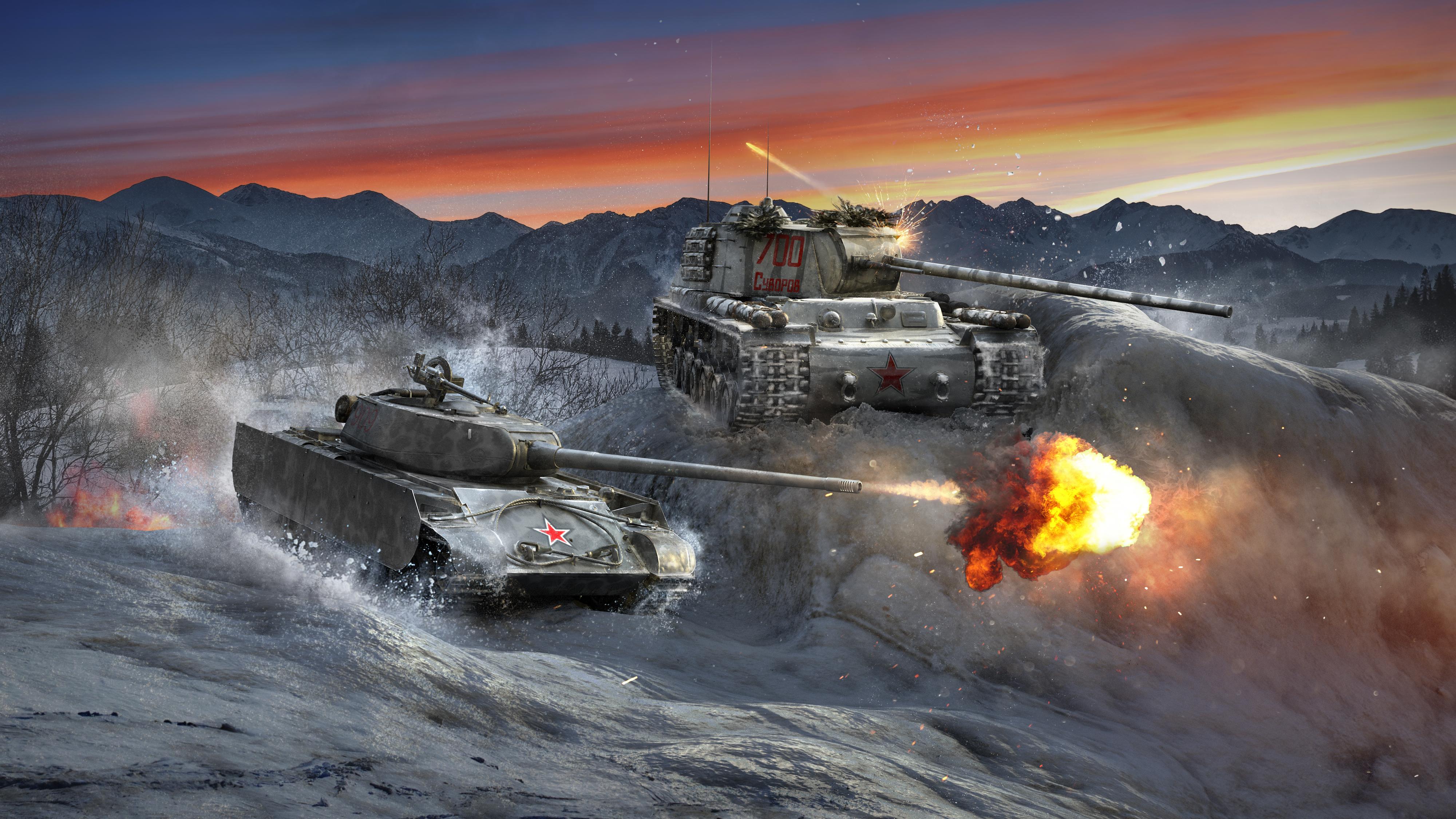 WGA-10687   WOTC Red Tanksmas Volk and Verzila Key Art
