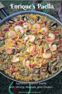 Paella with Shrimp, Mussels and Chicken