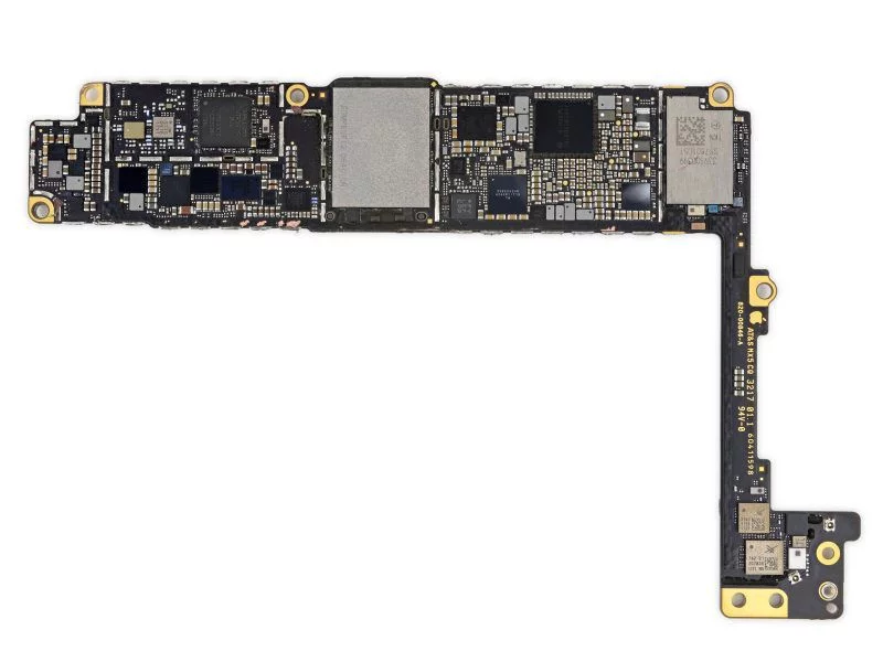 iPhone 8 PCB that shows no space remaining
