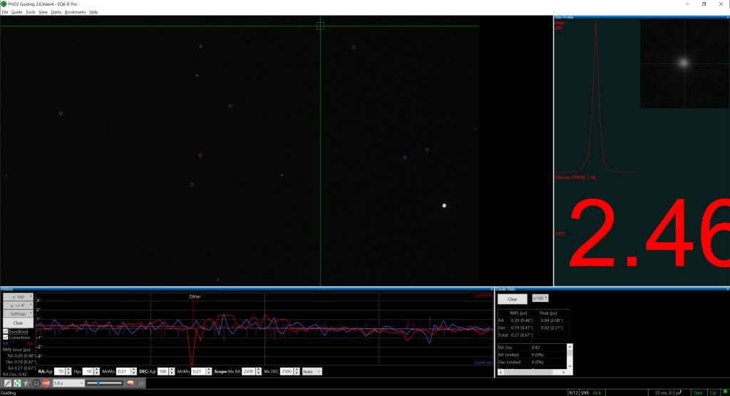 Beta version of PHD2 guiding