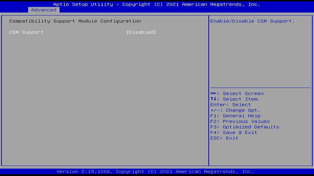 CSM Configuration Page