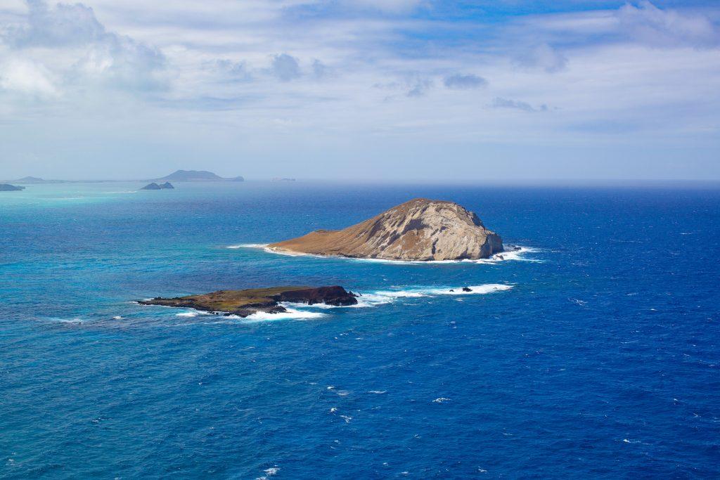 The Rabbit island on Oahu Hawaii