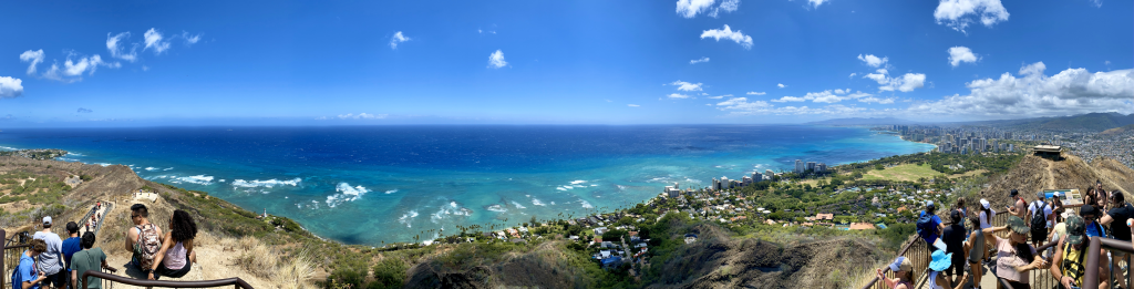 Diamond Head Crater view from the top