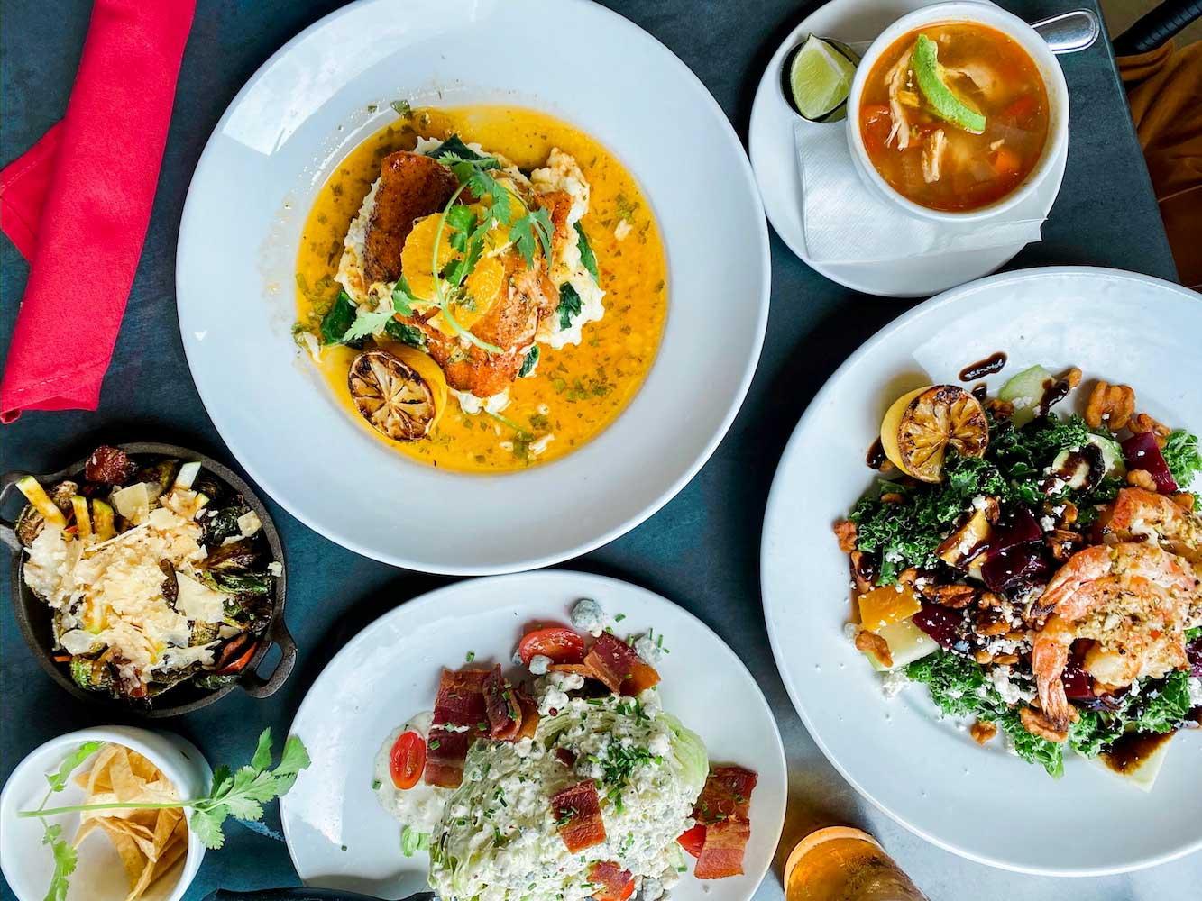 2020 Market Scr2020 Market Scratch Kitchen & Bar shrimp and saladatch Kitchen & Bar soup salad drinks