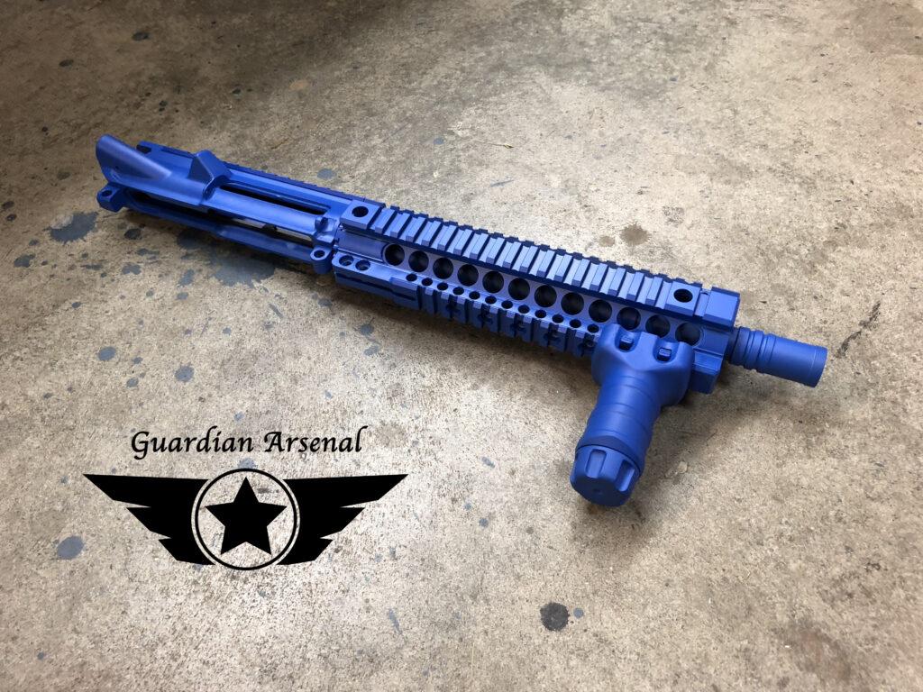 AR Blue Gun Branded
