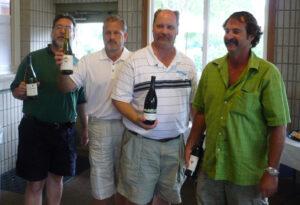 Mark Greg Al and Scott winners of tournament