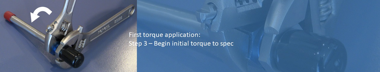 Analog Method to determine proper amount of torque for a SECO7 flare saver - Step 3