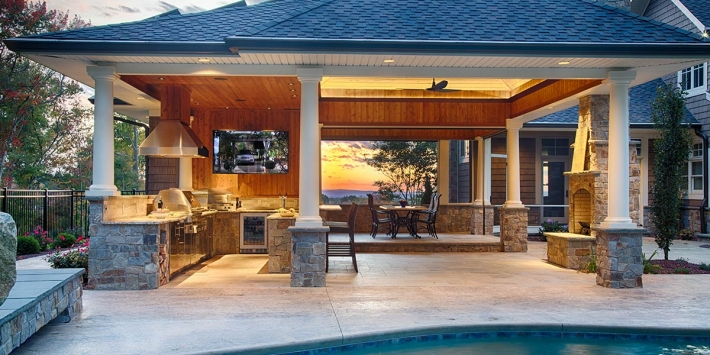 photo of outdoor kitchen in naperville IL