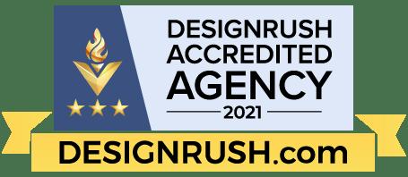 DesignRush's Accredited Company badges