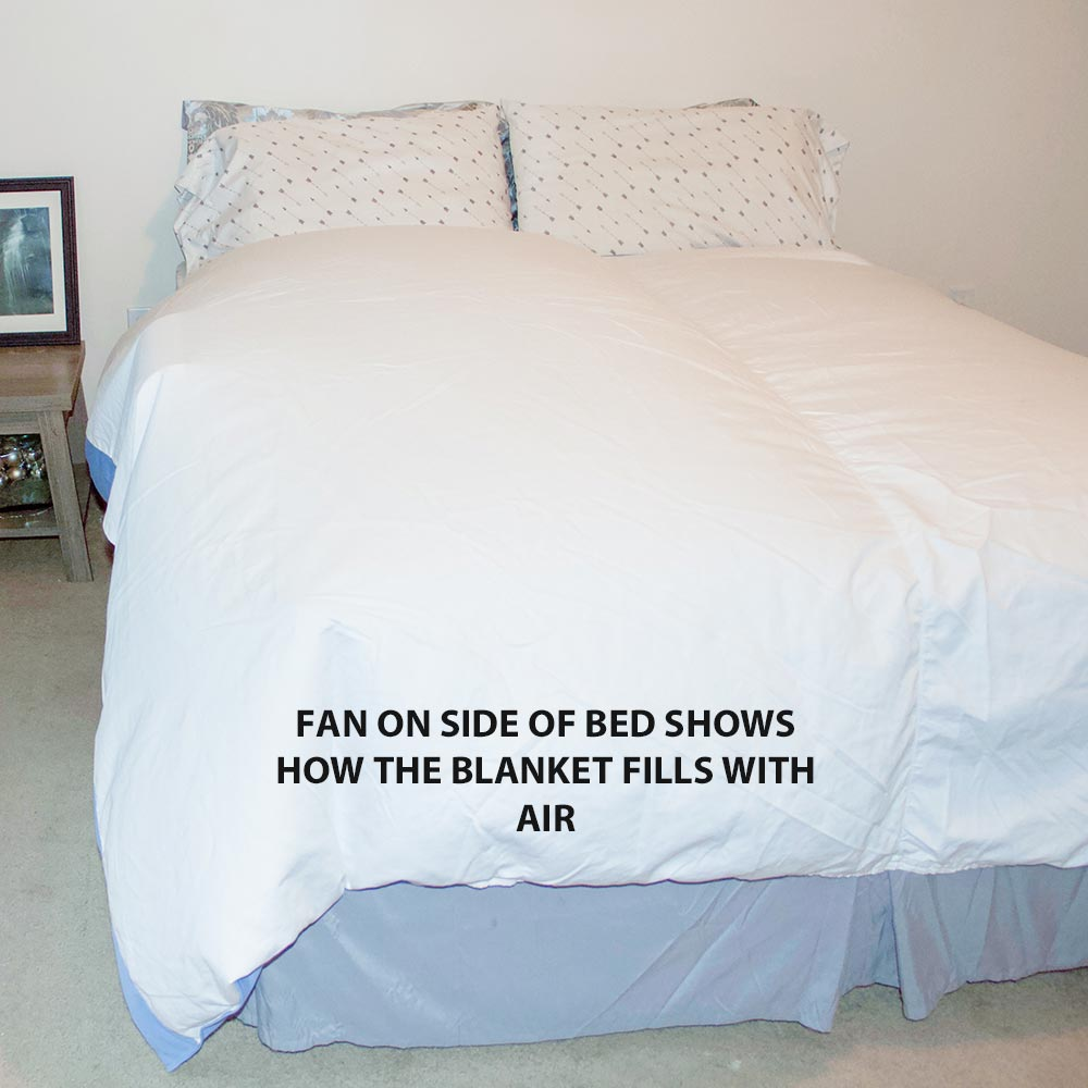 Blanket fills with air