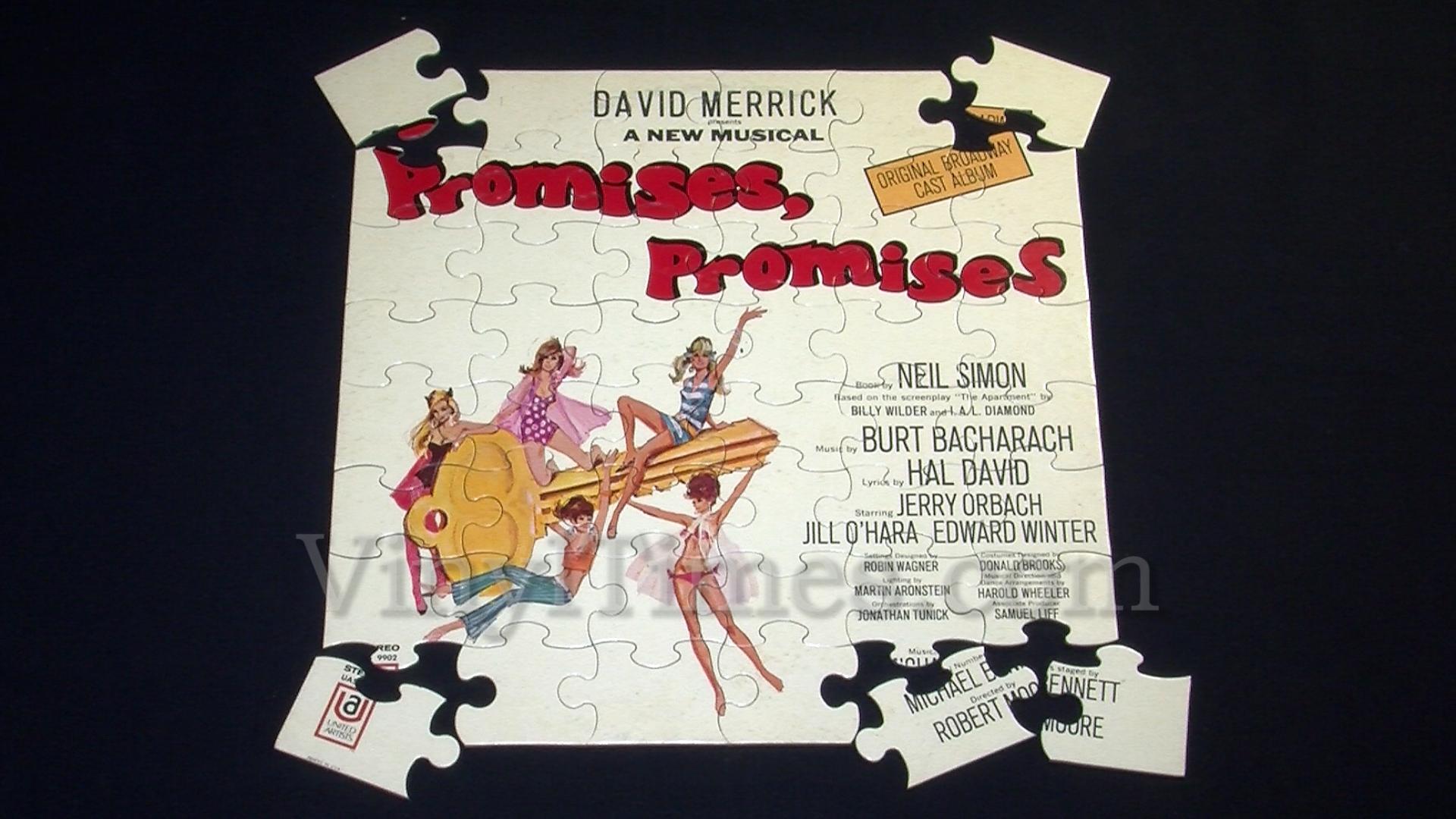 "Broadway - ""Promises, Promises"" Album Cover Jigsaw Puzzle"