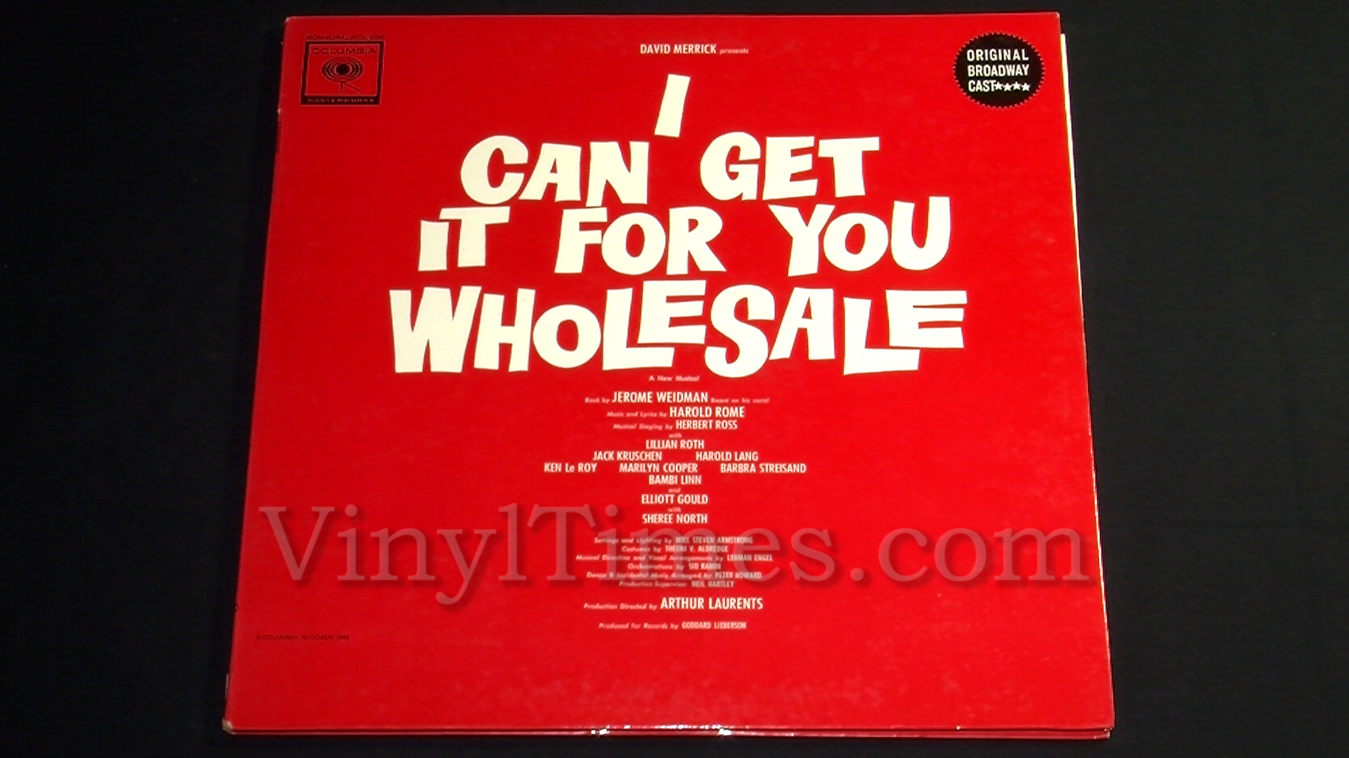 """Broadway - """"I Can Get It For You Wholesale"""" Vinyl LP Record Album gatefold cover"""