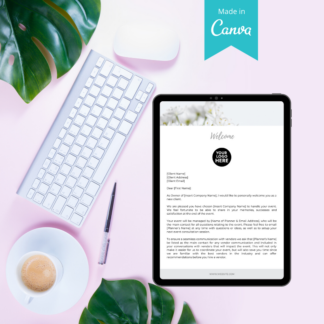 client welcome letter event planner