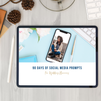 90 days of prompts wedding planners social media