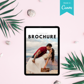 wedding planner marketing brochure