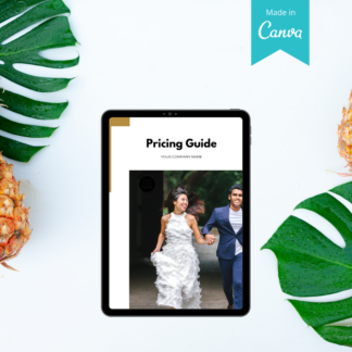 wedding planner canva pricing guide