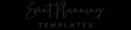 Event Planning Templates Shop