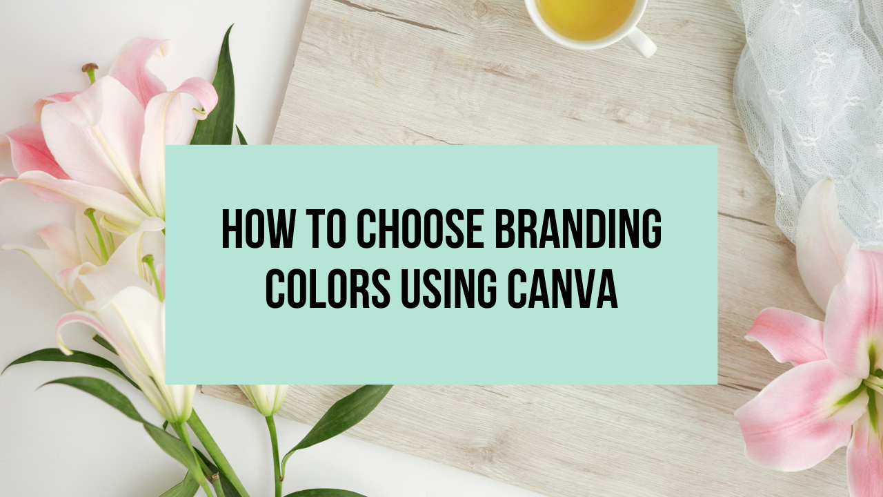 How to Choose Branding Colors Using Canva