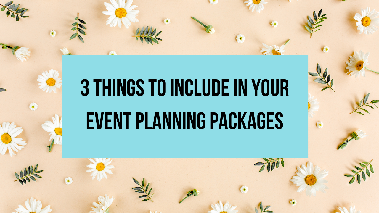 event planning packages