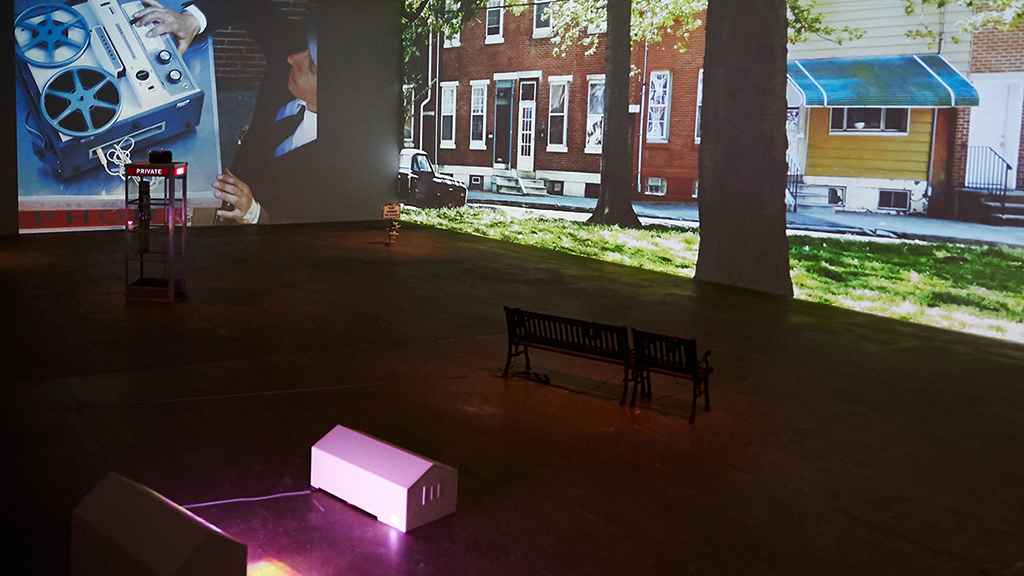 Gallery installation of A Reasonable Expectation of Privacy