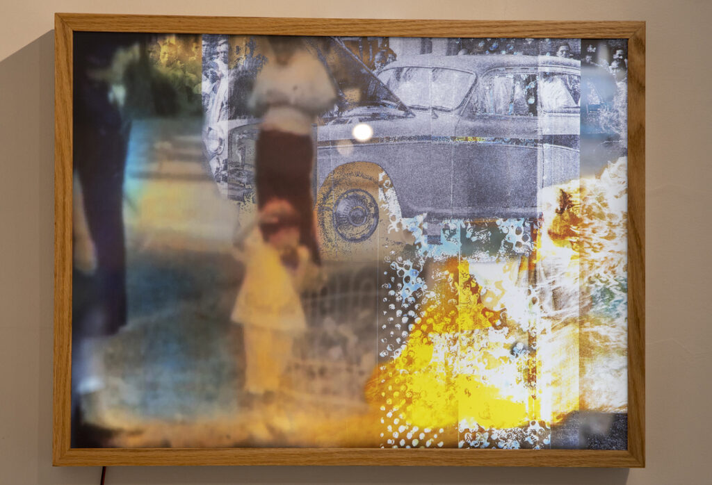 Lightbox reverse lit film