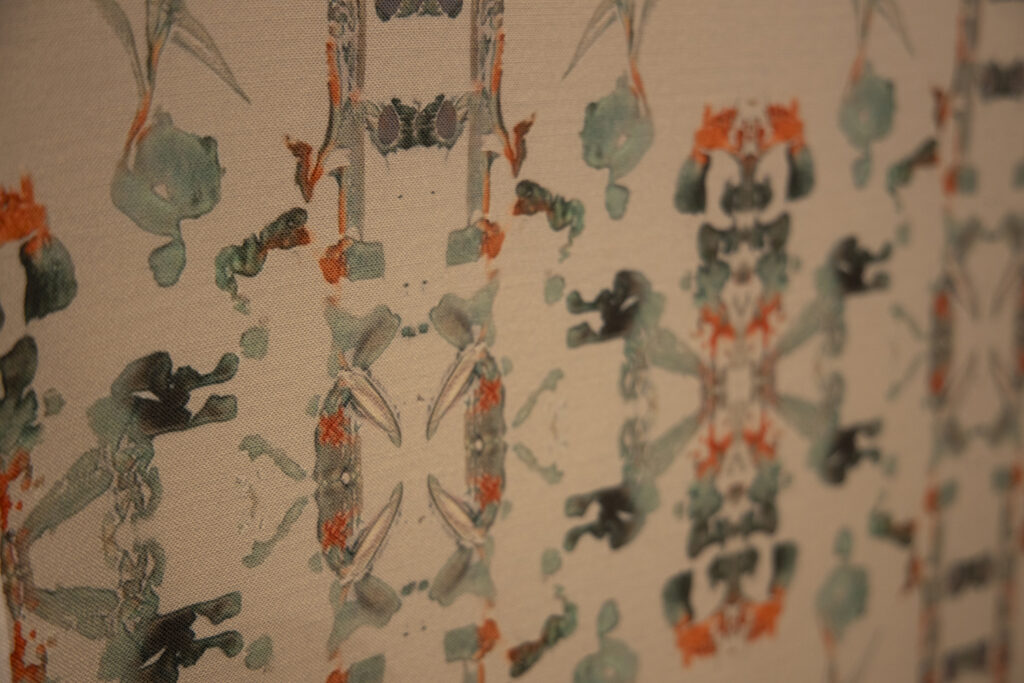 close up of wallpaper