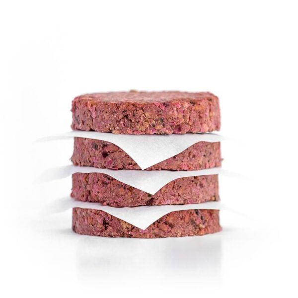 4 pack of frozen plant-based burgers | Available in Canada and United States