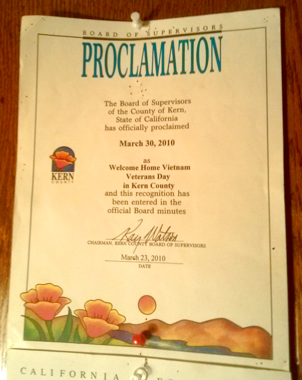 Kern County Board of Supervisors Proclamation