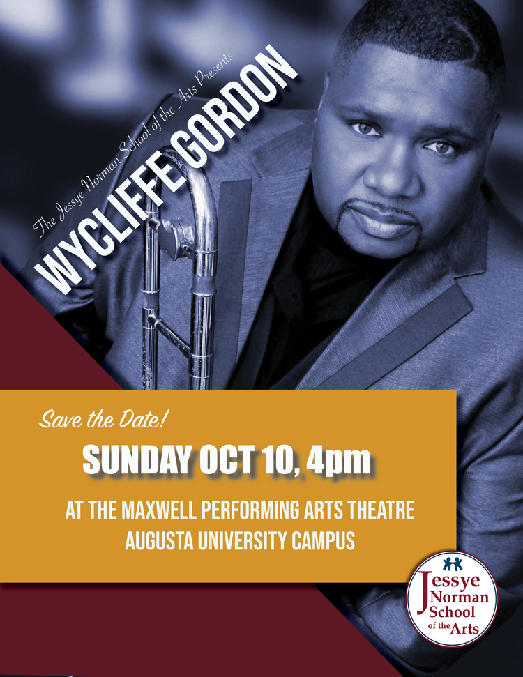event poster featuring wycliffe gordon
