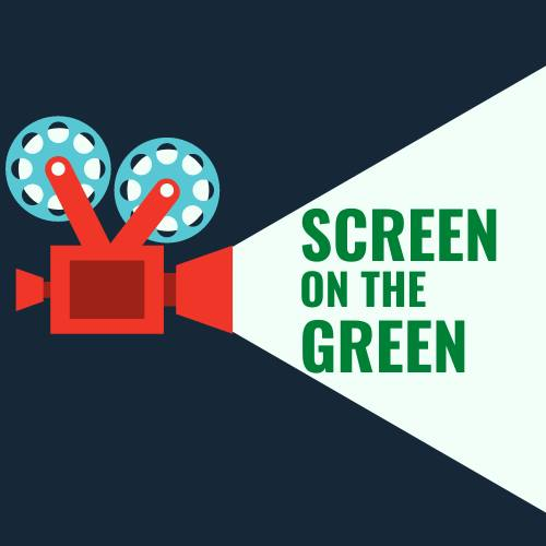 screen on the green banner