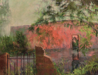 linda fantuzzo painting of a ruin