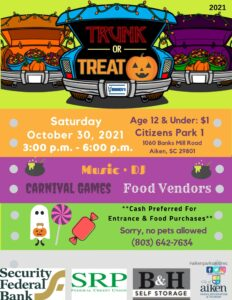 trunk or treat event information