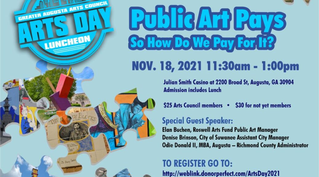 arts day luncheon event info card