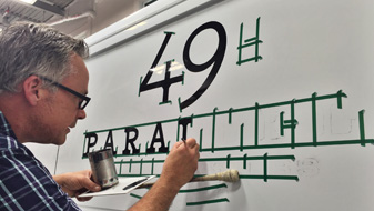 Vehicle Signs Hand Painting