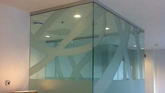 Indoor Signs window etch