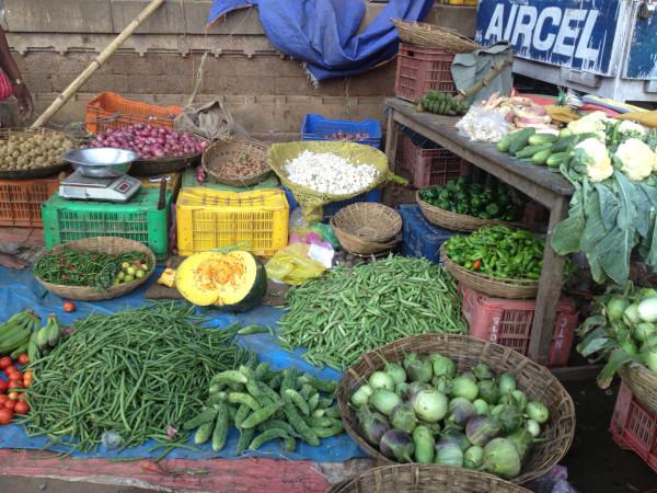 Roadside vegetable stand near Bhubaneshwar