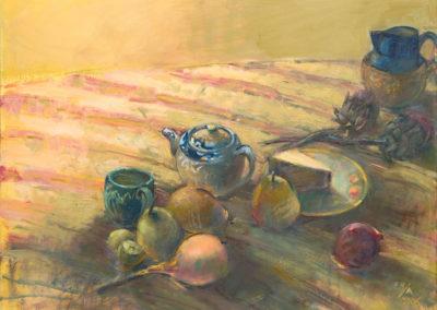 "Still Life: Life Goes On, 2006, 30"" x 40"", Oil on canvas"