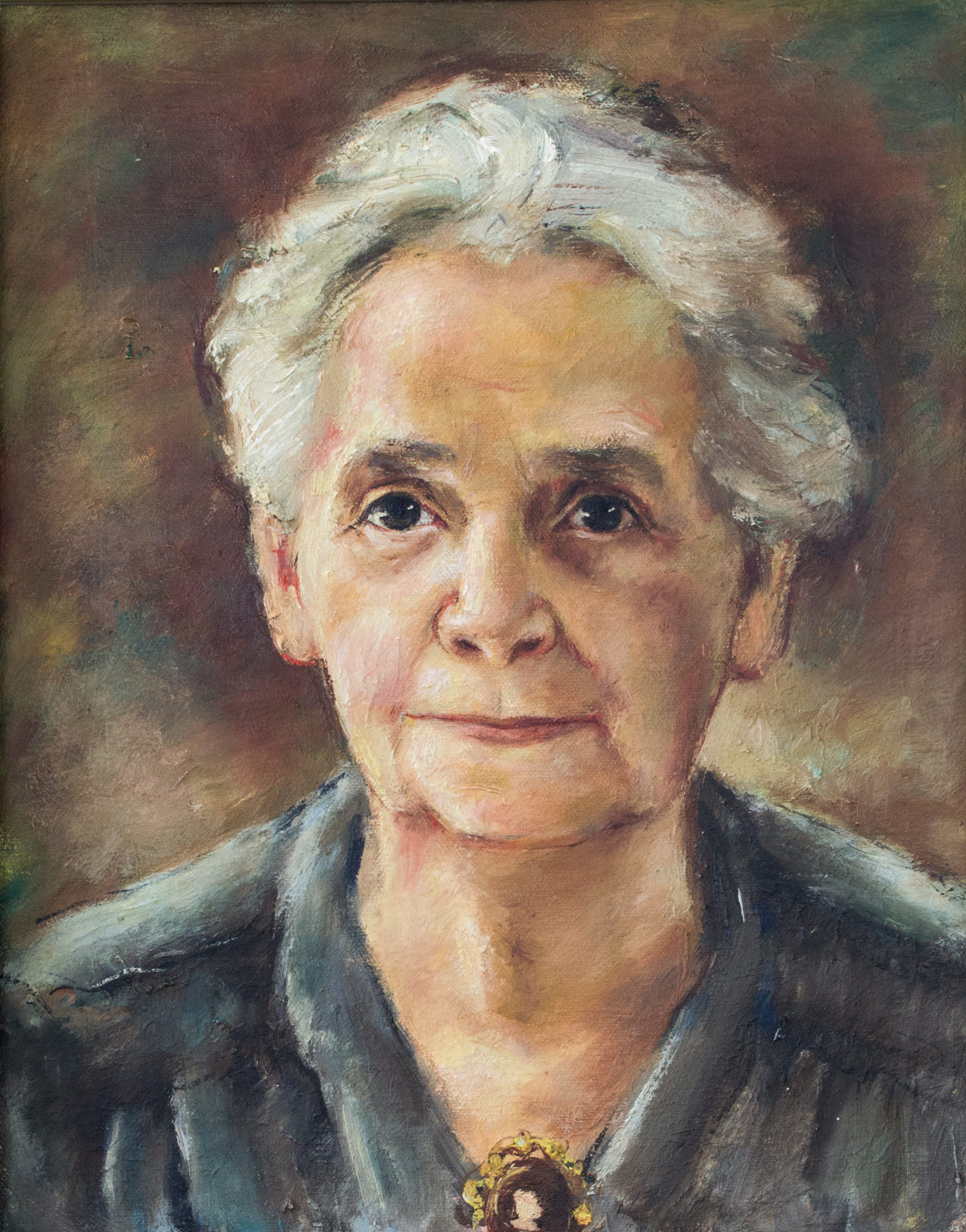 """Nellie Frazier, 1944, 12"""" x 15"""", Oil on canvas"""