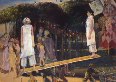 "See Saw Margy Daw, 2004, 120 x 154"", oil on canvas"