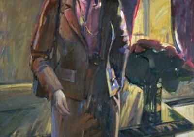 Oil Painting of Senator Dianne Feinstein, then Mayor of San Francisco