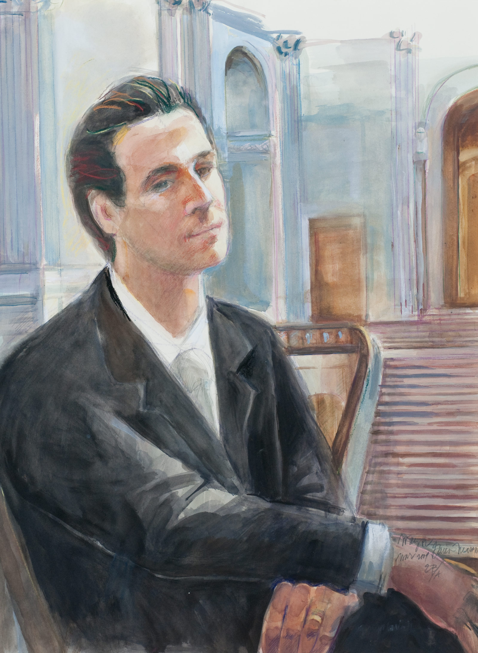 """The Fox #7, oil on canvas, 8"""" x 10"""", 2006 - 2008"""