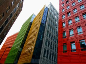 Colorful apartment building need tenant screening services too