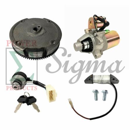 Electric Key Starter Upgrade Kit For 5.5/6.5HP 163cc 196cc 208cc 3000/4000 Watts Manual Start Generator & Harbor Freight Predator 3200/4000W 3500/4375W 212cc Recoil Gas Generator